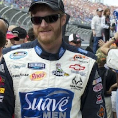 Dale Earnhardt Jr at Aarons 312 - 2011